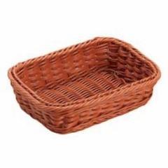 シンドー SHINDO 抗菌樹脂 角型バスケット DS100 18型 ブラウン キッチン用品