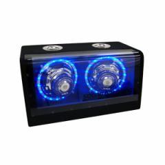 送料無料 レミックス アンプ内臓 フルレンジウーファーボックス LED #FSN‐WX17L REMIX カー用品