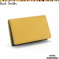 ポールスミス 名刺入れ カードケース イエロー Paul Smith psu653-40 ブランド メンズ 紳士
