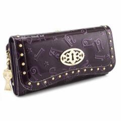 アナスイ 財布 長財布 がま口財布 紫系 ANNASUI 307210-96 レディース 婦人