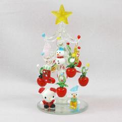 クリスマス オブジェ ハロー キティ ガラスツリー(アップル)オーナメント かわいい キャラクター