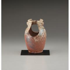 ギフト 7号花瓶 手桶窯肌 信楽焼 インテリア 和 置物/sha-20