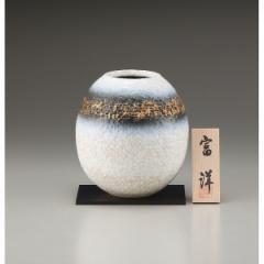 ギフト 6.5号花瓶 白砂金窯 信楽焼 インテリア 和 置物/sha-21