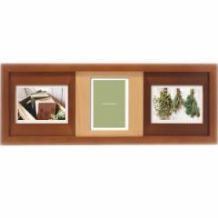 写真立て木製フォトフレーム 3窓結婚祝い ギフト おしゃれ  /CW33−30−BR