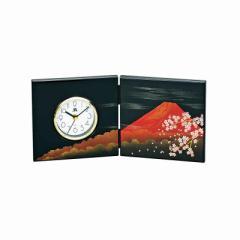 置き時計 屏風時計 富士さくら/M14326
