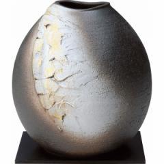 花瓶 信楽焼 金彩白化粧陶器 おしゃれ 贈り物に最適