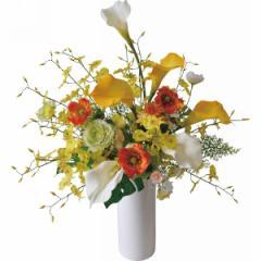 花 造花 イエローマインアートフラワー おしゃれ インテリア 贈り物に最適
