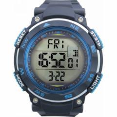 腕時計紳士デジタルウオッチ クワトロ メンズファッション 小物/QM−16