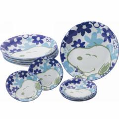 小皿付カレー皿10点セット トロピカルスヌーピー 食器 キッズ キャラクター/STR-017