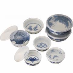 保存容器レンジパック7点セット 魯山人写しの器 和食器 磁器/#L-1040