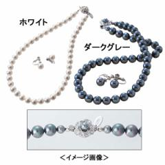 ネックレス イヤリング貝パール2点セット ユキコハナイレディースファッション 小物/A−YH100BK