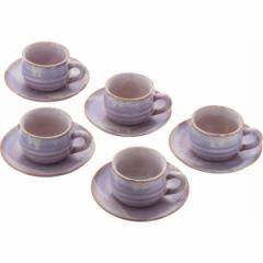 コーヒーカップ丸珈琲セット 萩焼 萩むらさき 生活雑貨 キッチン用品 食器/17405