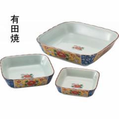 皿渕波角鉢三ッ組揃 古伊万里金彩牡丹絵 和食器 有田焼 キッチン用品