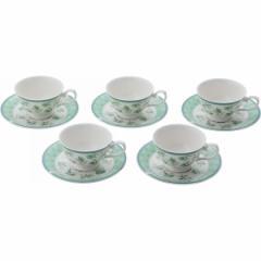 カップソーサーコーヒー碗皿5客セット ハーブランド キッチン用品 食器