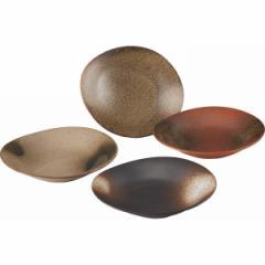 皿和風楕円カレー皿4枚組食器 器 キッチン用品/491502