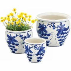 植木鉢陶器 3点セットガーデニング プランター/UH03/3SBB