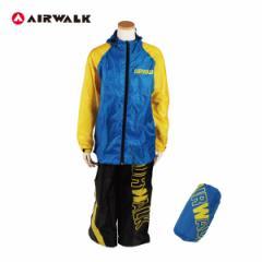 レインスーツAIR WALK 150cmキッズ 子供用 レインウェア 自転車/13AW-RS-150 YE×NV