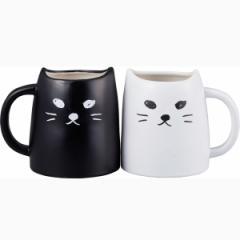 ペアマグ 黒ねこと白ねこ アニマルティー結婚祝い 誕生日 面白い 猫好き /SAN2140