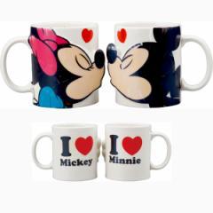 ペアマグ キス ミッキーマウス&ミニーマウス ディズニー結婚祝い かわいい めおと プレゼント /SAN2148