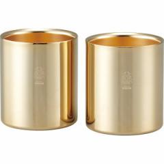 金の贅 ペアステンレスタンブラーカップ コップ/BG−052