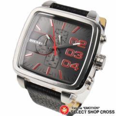 ディーゼル DIESEL メンズ 腕時計 スクエアフランチャイズ クロノグラフ DZ4304 ブラウン