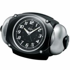セイコークロック RAIDEN(ライデン) 大音量目覚まし時計 クオーツ 黒メタリック塗装 NR438K[送料無料(一部地域を除く)]
