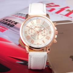 レディース アナログクォーツウォッチ LDN186 ホワイト おしゃれ シンプル 腕時計[メール便発送、送料無料、代引不可]