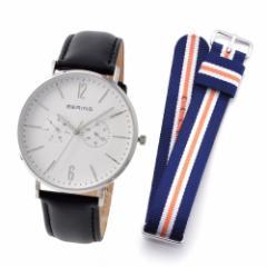 ベーリング BERING 14240-404  CLASSIC COLLECTION  メンズ腕時計 替えストラップ(ナイロン)付き ブランド クロス セット 送料無料