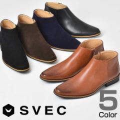 サイドジップブーツ ショートブーツ ブーツ 焦がし加工 ユーズド加工 メンズ カジュアル シューズ SVEC シュベック SPB016-3