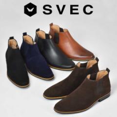 サイドゴアブーツ ショートブーツ チェルシーブーツ ブーツ 焦がし加工 メンズ カジュアル シューズ SVEC シュベック SPB016-4