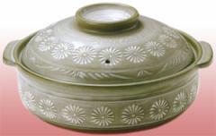 花三島9号IH土鍋■寄せ鍋、キムチ鍋、ちゃんこ鍋、おでん。家族で囲って楽しい食卓♪