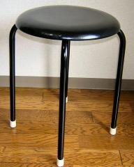 【送料無料】丸いす(黒)10脚セット(日本製) (1脚あたり1040円)丸椅子 丸イス スツール