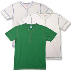 ヘルスニット ヘンリーネックTシャツ (Healthknit)