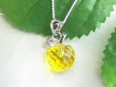 【黄水晶】シトリンクォーツ林檎ペンダント