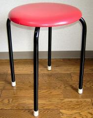 【送料無料】丸いす(赤)10脚セット(日本製) (1脚あたり1040円)丸椅子 丸イス スツール