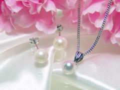 【本真珠14KWG】パール2点アクセサリーセット