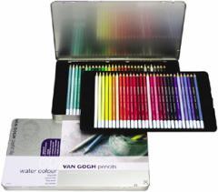 「送料無料20%off」ヴァンゴッホ水彩色鉛筆60色セット(メタルケ−ス入り)