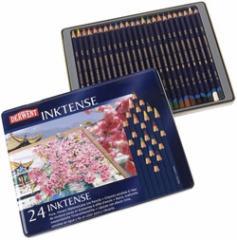 20%off ダーウェント・インクテンス水溶性色鉛筆24色セット 鮮やかな色味の水彩色鉛筆です