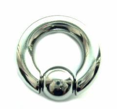 【メール便 送料無料】 ボディピアス キャプティブ ビーズリング 2G (6mm)サージカルステンレス スプリング ボール ┃