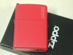 Zippo レッドマット(赤 無地)ジッポーロゴ#233