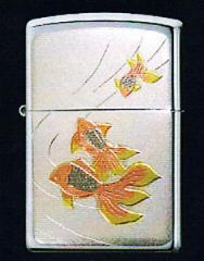 zippo優雅電鋳十二月シリーズジッポー7月 『 金魚 』