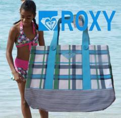 【SALE】USA版ROXY【ロキシー】♪フレッシュカラー トート バック BLU