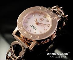 アンクラーク 腕時計 レディース ハートチェーン ピンクシェル AN-1021-17PG ANNE CLARK 時計