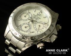 アンクラーク 時計 腕時計 レディースウォッチ クロノグラフ ホワイト AM-1012VD-09