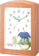 リズム時計工業 となりのトトロ 置き時計 トトロR752N 4RM752MN06 木目 アナログ オルゴール 置き時計 キャラクタークロック 子供