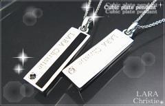 ペアネックレス シルバー セット シンプル人気ブランド LARA Christie ストレートラウンジペアネックレスp3052-p/19,440円