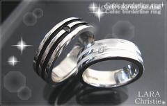 ペアリング 人気ブランド LARA Christie 送料無料 シルバー オリンピアペアリングR3049-P/19,440円