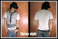 メール便なら送料無料!Eleven eight2枚SET☆SALON系Tシャツ