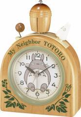 リズム時計工業 となりのトトロ目覚し時計 トトロR455N 4RA455MN06 目覚し めざまし キャラクタークロック