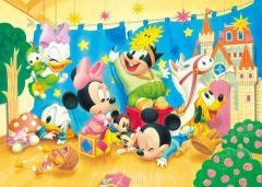 Disney ベビーミッキージグソーパズル【D-470-613 想い出の人形劇】シルエットピース 470ピース(35×49cm)